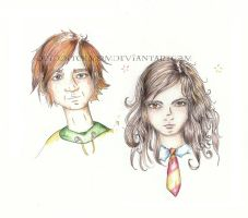 ron and hermione by quidditchmom
