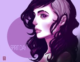 Purple Hair for Spirit Day by Sha-H