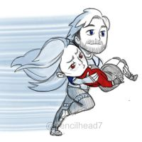 Quicksilver and Scarlet Witch by pencilHeadno7