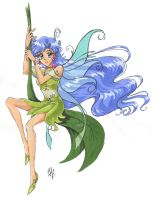 Leaf Fairy -colour- by nephrite-butterfly