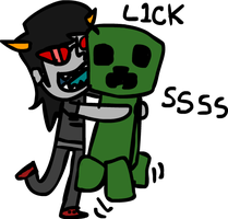 Terezi licks a creeper by Hraugur