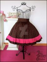 Pink Heart Lolita Skirt by Dejik0