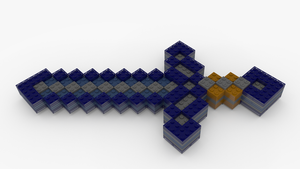 Lego Minecraft Diamond Sword by pyrohmstr