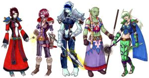 WOW Horde hoties lineup by pyrogina
