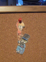 Scarecrow and Hatter paper chibis by Gurulazer