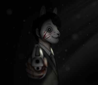 Jungkook: The killer bunny [Fanart w/SPEEDPAINT] by Sacred-Heartt