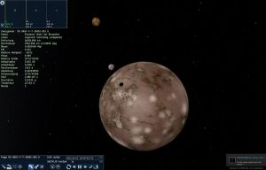 Space Engine Rock Planet with close moons by SchnuffelKuschel