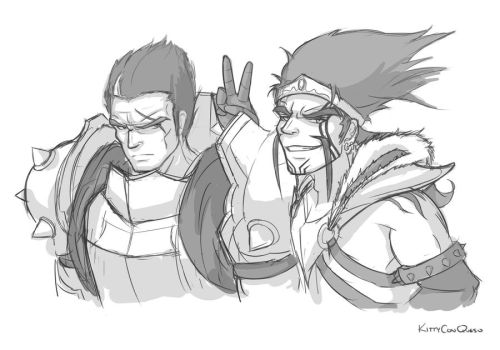 Darius and Draven Sketch by KittyConQueso