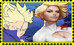 Trunks and Power Girl Stamp by WOLFBLADE111