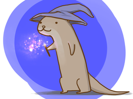Wizard Otter by arseniic