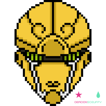 Gold Experience [Pixel Art] by oracionscruffy