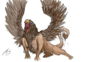 Griffon Sketch- Coloured by Lebiro