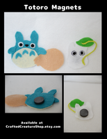 My Neighbor Totoro Magnets by CraftedCreatures