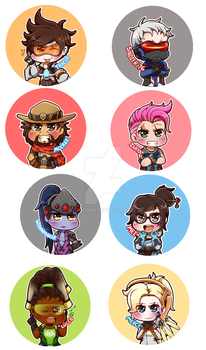 Overwatch Button Preview by Rugi-chan