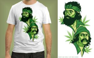 Cheech and Chong v 420 shirt by Cloxboy