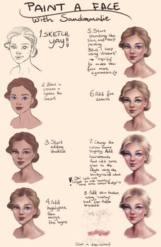 Tutorial: Painting a female face by Sandramalie