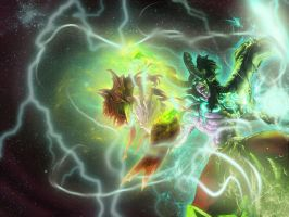 KAEL'THAS VS ILLIDAN OMGEPIC by emcake