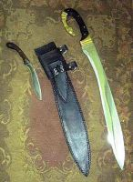Falcata and side knife by HellfireForge