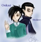 Oskar and Stoker by Knorke-chan