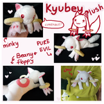 Madoka Magica Kyubey plush commission by scilk