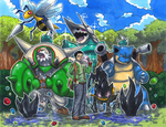 Chesnaught Team Commission by matsuyama-takeshi