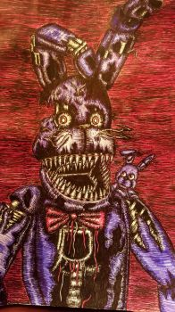 Pen Only Challenge-Nightmare Bonnie by StormStrikeElectric