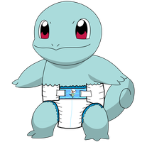 Diapered Squirtle! by ryanthescooterguy