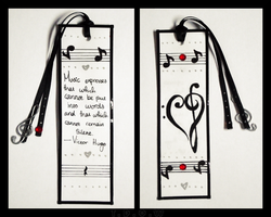 Love of Music Bookmark by A-McQ