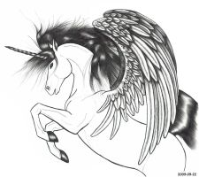 Unicorn With Wings 2009-09-22 by Blood-Huntress