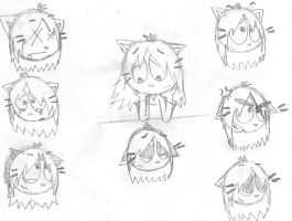 Practise: drawing expressions by Snowyandshadsnowy