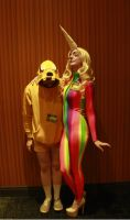 Lady Rainicorn and Jake Cosplay - Adventure Time by LucyLovett