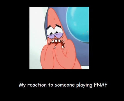 My reaction to FNAF by Tanooki-boy12