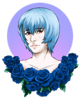 Rei with Roses by Mistress-of-Dragons