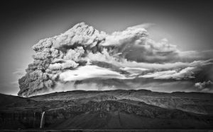 Black and White volcano by dogmundsson