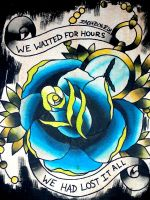 rose and clock by armada27