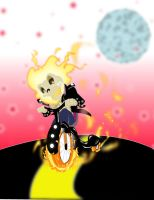 ghost rider by kevtoons