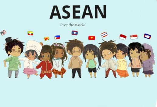 ASEAN love the world by nikkiyoyoneko