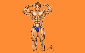 Danny muscles up by aegeus2009