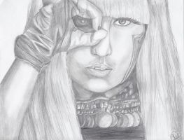 Lady Gaga Sketch by Mesymes