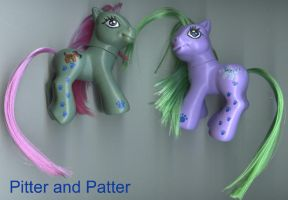 MLP Customs:Pitter and Patter by marienoire
