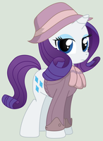 Rarity, mare of the Ministry of Image by ScarletLightning565