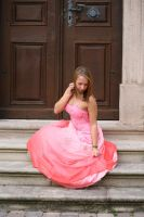 Pink dress stock 08 by Malleni-Stock