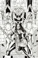 Conan Cover Art Contest Submission Inked by CliffEngland