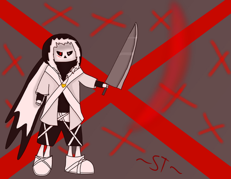Destroyer of the Underverse - (Cross Sans attempt) by AfterfellChara