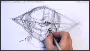 Draw An Old Man's Face In Two Point Perspective 20 by drawingcourse