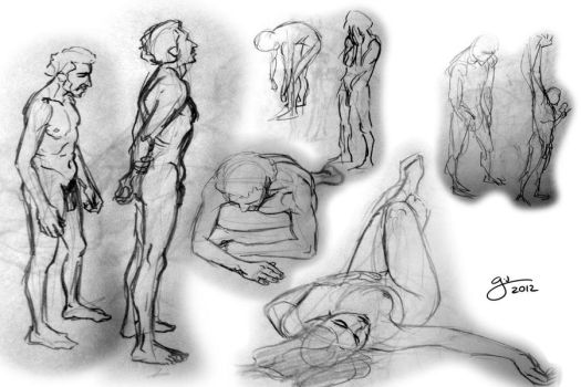Several nude sketches by fergil