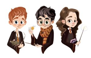 Potter Trio by rainboot