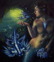 Blue Sea Slug Mermaid by Blazesnbreezes