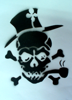 Irish Pirate Stencil by Gordorca
