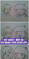 Why Johnny Ghost Wears a Hood. by reyreyet